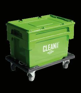 Clean Box med lokk, nedsenkningskurv, bremser