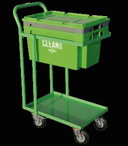 Clean Box med lokk, nedsenkningskurv, hjulsett
